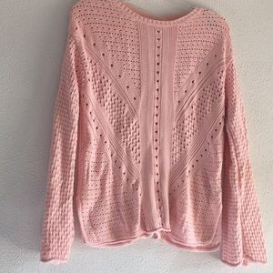 Pink see through light sweater